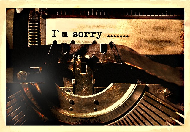 Pedir disculpas por escrito