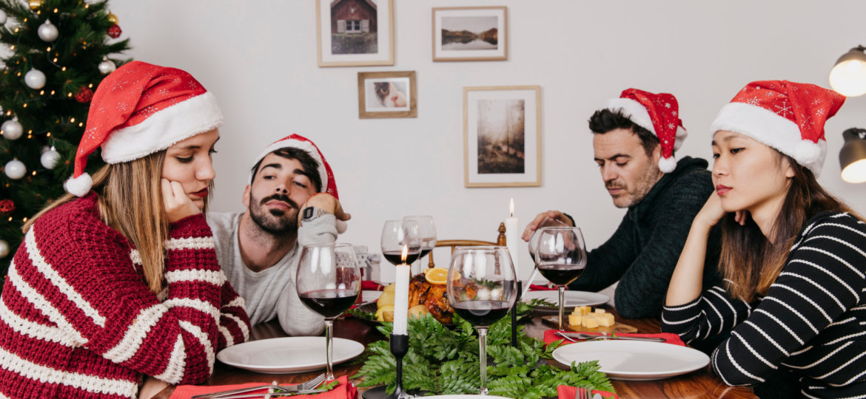 Navidad - Cena aburrida