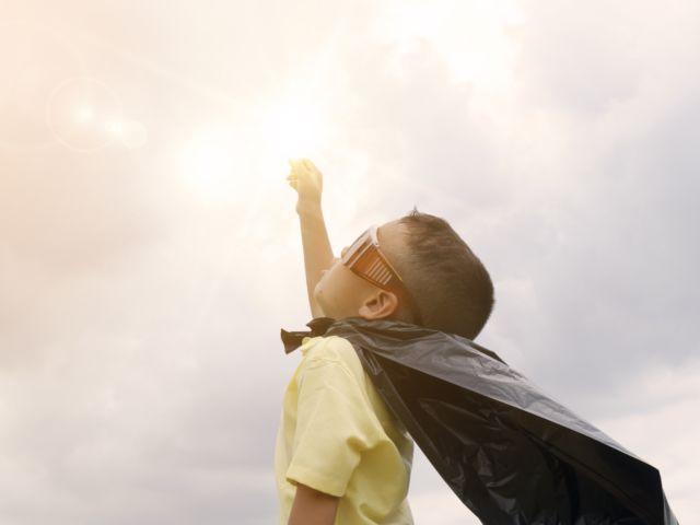 ser niños - superhéroe